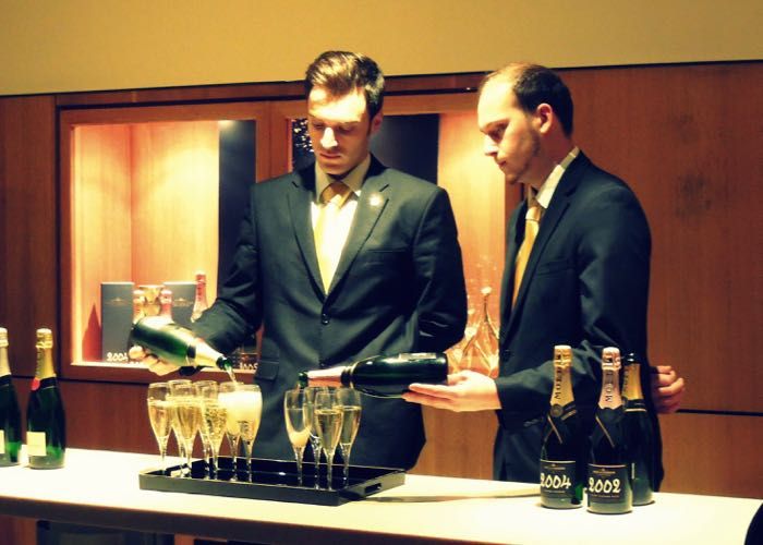Moet and Chandon champagne tasting and service