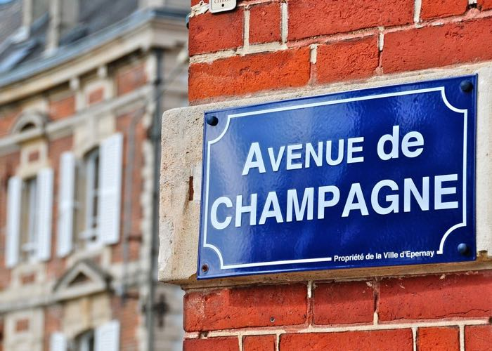Visit of Epernay and its Champagne street during a luxury wine day tour