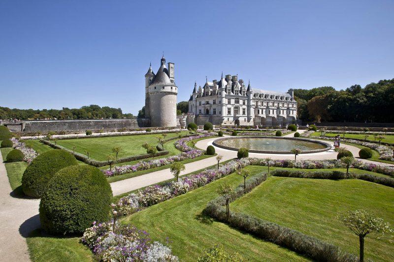 ©marc-jauneaud-Vue-depuis-le-jardin-de-Catherine-de-Médicis_château-de-Chenonceau