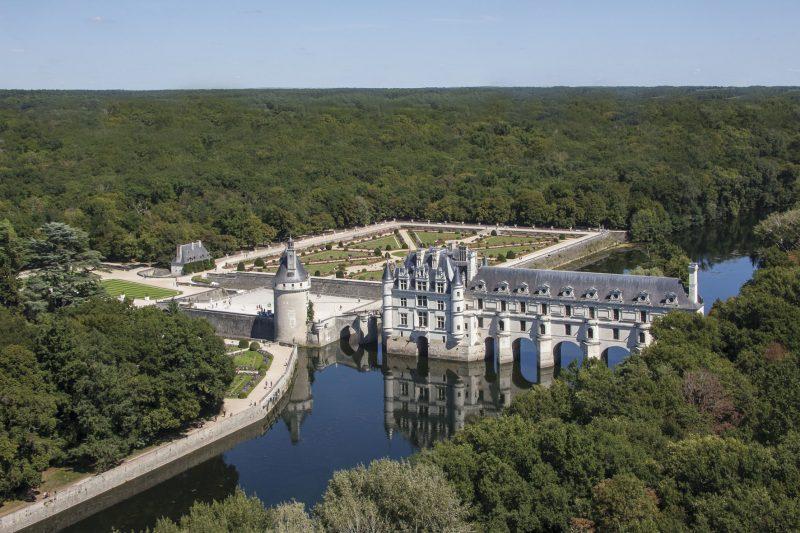 ©marc-jauneaud-vue-générale-ouestaérienne_château-de-Chenonceau