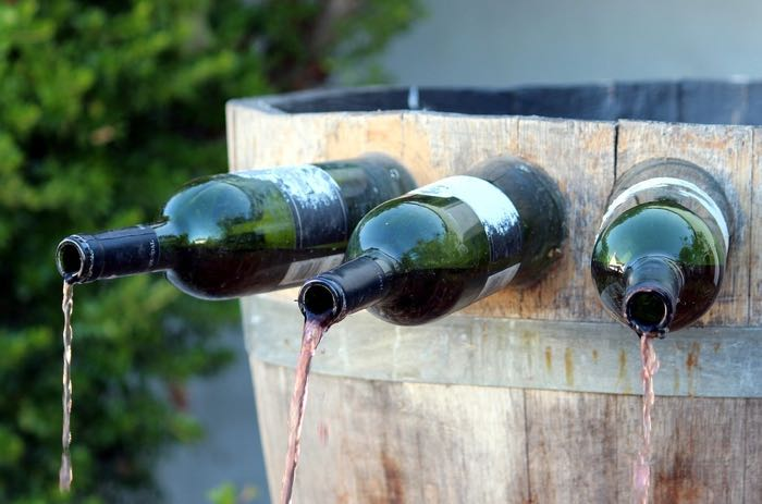 Visit of a wine-producer domain and its Wine fountain during a private wine day tour to Loire valley