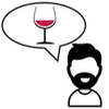 Pictogram of wine expert