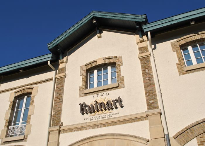 Visit of the famous Ruinart domain of Champagne during a luxury wine day tour from Paris