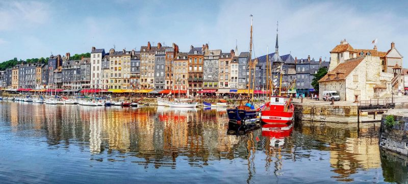 Visit of the harbor of Honfleur in Normandy during a wine day tour from Paris