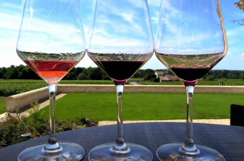 Wine tasting glasses during a private day tour to Loire Valley