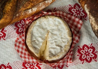 camembert during a cheese tour in normandy