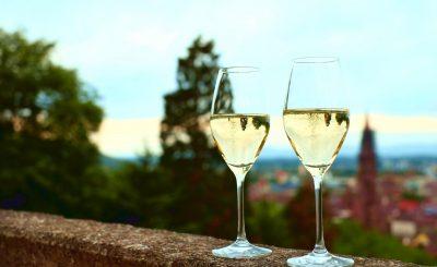 champahne glass panoramic view