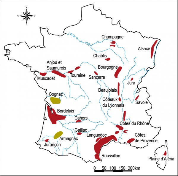 Wine Map France
