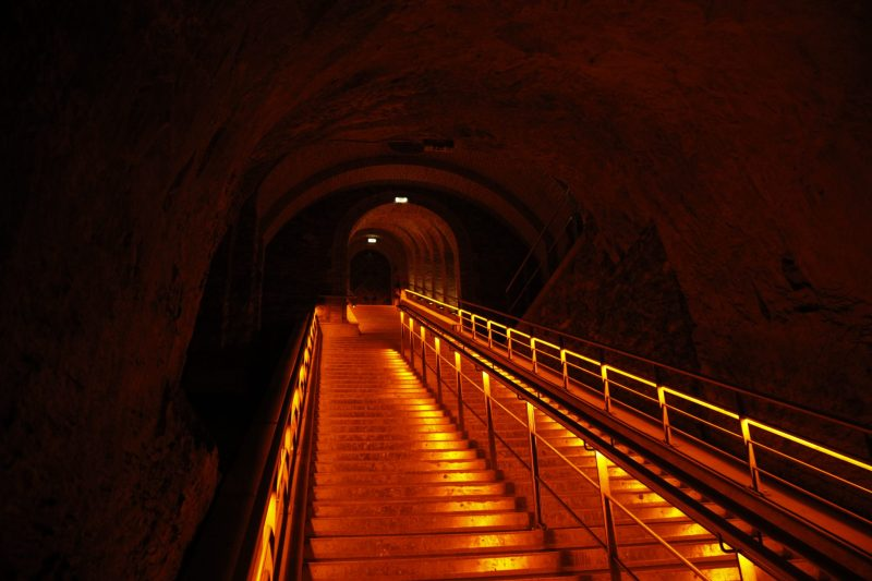 Cellars and stairs Champagne Veuve Clicquot My Winedays